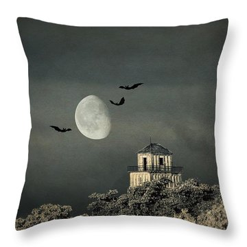 The Haunted House Throw Pillow by Heike Hultsch