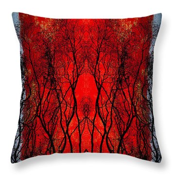 The Heart Of A Tree Throw Pillow by Jan Amiss Photography