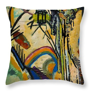 The Hermit Tarot Card Throw Pillow by Corporate Art Task Force
