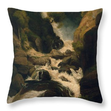 The Heron Shoot, C.1800 Throw Pillow by English School