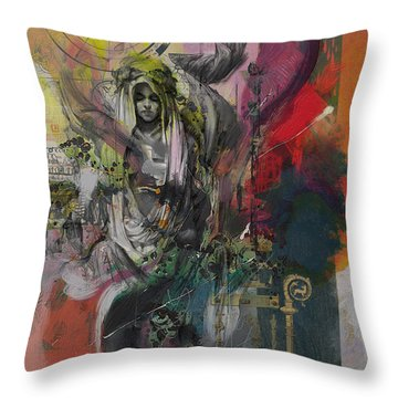 The High Priestess Throw Pillow by Corporate Art Task Force