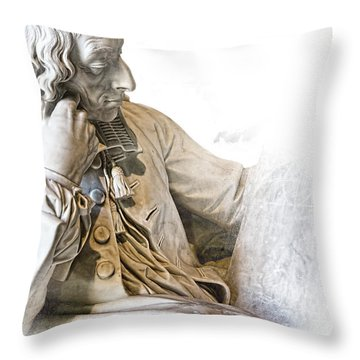 The Historian Throw Pillow by Evie Carrier