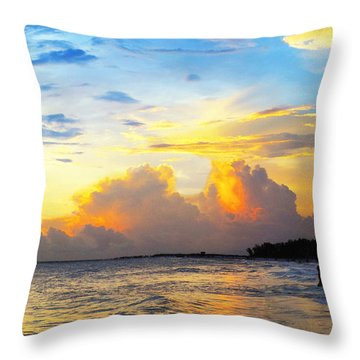 The Honeymoon - Sunset Art By Sharon Cummings Throw Pillow by Sharon Cummings