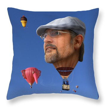 The Hot Air Surprise Throw Pillow by Mike McGlothlen