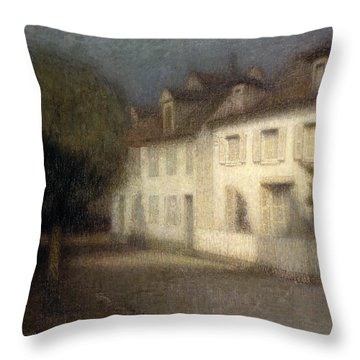 The House Throw Pillow by Henri Eugene Augstin Le Sidaner