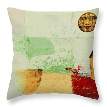 The House Next Door - J191206097-c4f1 Throw Pillow by Variance Collections