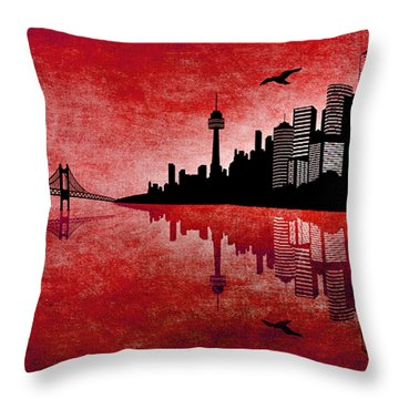 The Hubris Of Mankind 3 Throw Pillow by Angelina Vick
