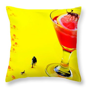 The Hunting Little People Big Worlds Throw Pillow by Paul Ge