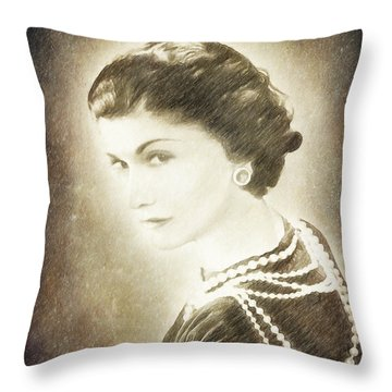 The Icon Of Elegance Throw Pillow by Angela A Stanton