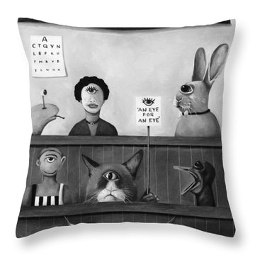 The International Cyclops Conference Edit 4 Throw Pillow by Leah Saulnier The Painting Maniac