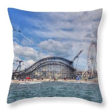 The Jersey Shore Throw Pillow by Lori Deiter
