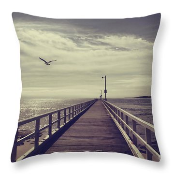 The Jetty Throw Pillow by Linda Lees