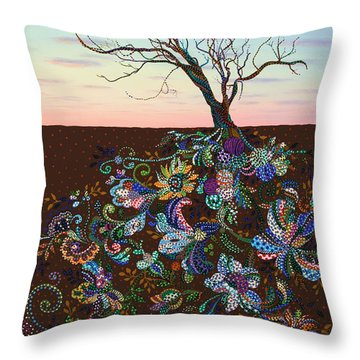 The Journey Throw Pillow by James W Johnson