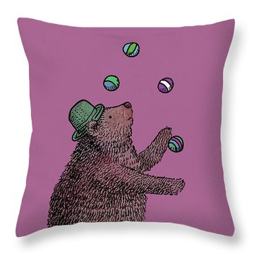 The Juggler Throw Pillow by Eric Fan