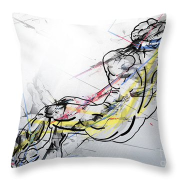 The King David  Throw Pillow by Mark Ashkenazi