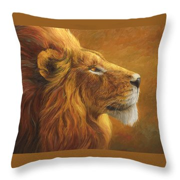 The King Throw Pillow by Lucie Bilodeau