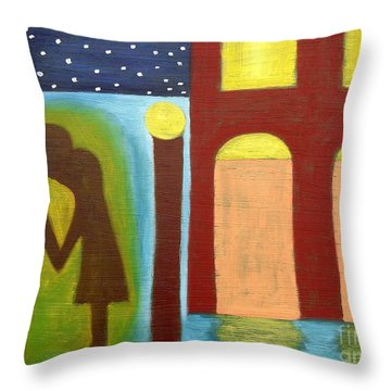The Kiss Goodnight Throw Pillow by Patrick J Murphy