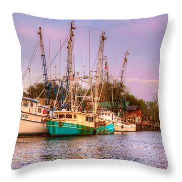 The Lady Vanessa Throw Pillow by Debra and Dave Vanderlaan