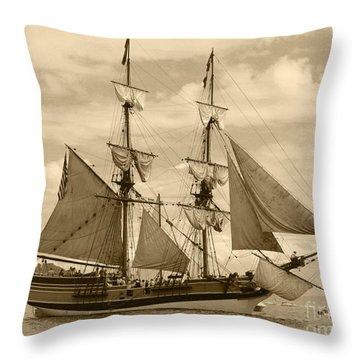 The Lady Washington Ship Throw Pillow by Kym Backland