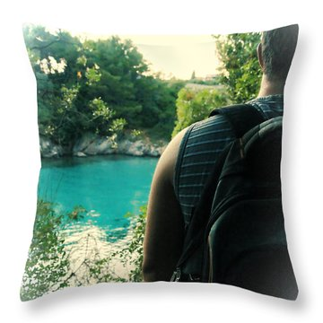 The Lagoon Throw Pillow by Jasna Buncic