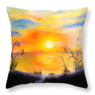 The Land Of The Dying Sun Throw Pillow by Nirdesha Munasinghe