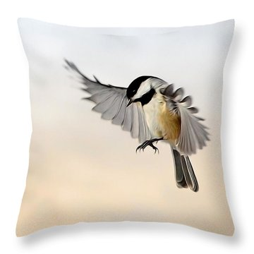 The Landing Throw Pillow by Bill Wakeley