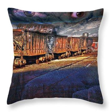 The Last Shipment Throw Pillow by Gunter Nezhoda