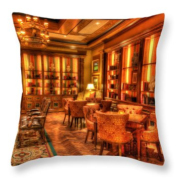The Library Throw Pillow by Heidi Smith