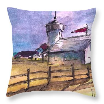 The Lighthouse Throw Pillow by Diane Strain