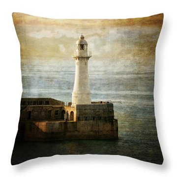 The Lighthouse Throw Pillow by Lucinda Walter