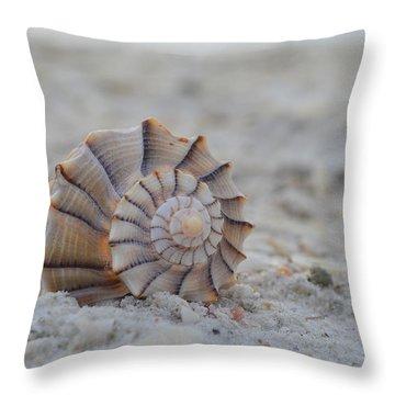 The Lightning Whelk Throw Pillow by Melanie Moraga
