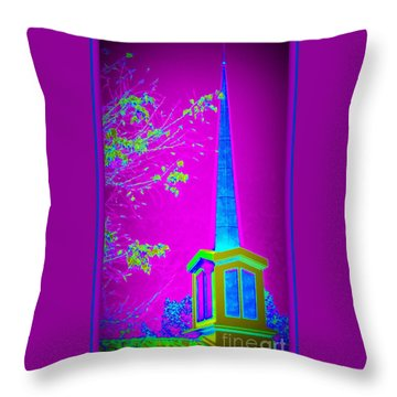 The Lights On Throw Pillow by Bobbee Rickard