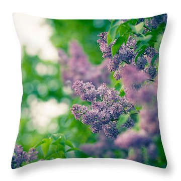 The Lilac Throw Pillow by Andreas Levi