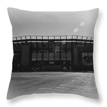 The Linc In Black And White Throw Pillow by Bill Cannon
