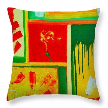 The Little Flower Throw Pillow by Ana Maria Edulescu