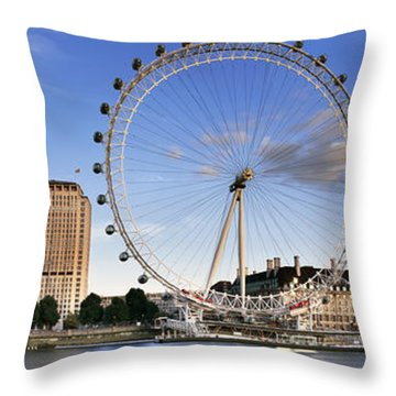 The London Eye Throw Pillow by Rod McLean