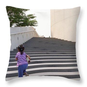 The Long Climb Throw Pillow by Frank Romeo