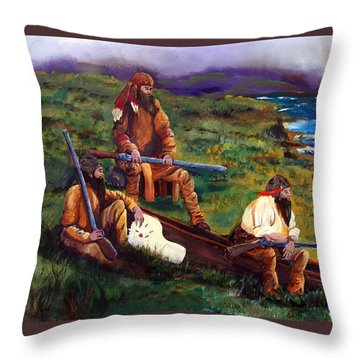 The Long Hunters Throw Pillow by Gail Daley