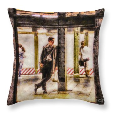 The Long Wait Throw Pillow by Nishanth Gopinathan