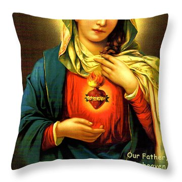 The Lord's Prayer Throw Pillow by Barbara Snyder