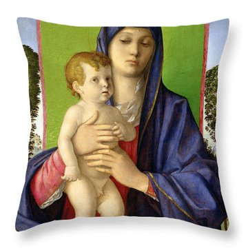 The Madonna Of The Trees Throw Pillow by Giovanni Bellini