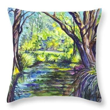 The Melaleucas Throw Pillow by Carol Wisniewski