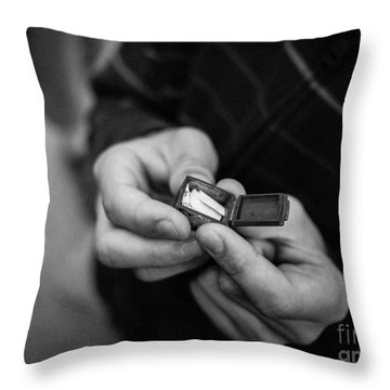 The Message Throw Pillow by Edward Fielding