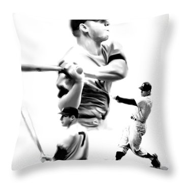 The Mick  Mickey Mantle Throw Pillow by Iconic Images Art Gallery David Pucciarelli