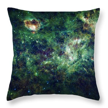 The Milky Way Throw Pillow by Adam Romanowicz