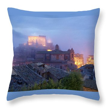 The Mists Of Soriano Throw Pillow by Ellen Henneke