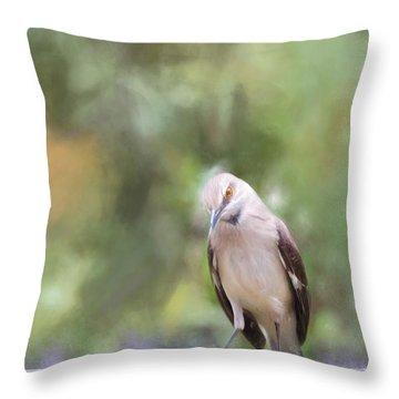 The Mockingbird Throw Pillow by David and Carol Kelly