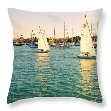 The Mystery Of Sailing Throw Pillow by Angela A Stanton