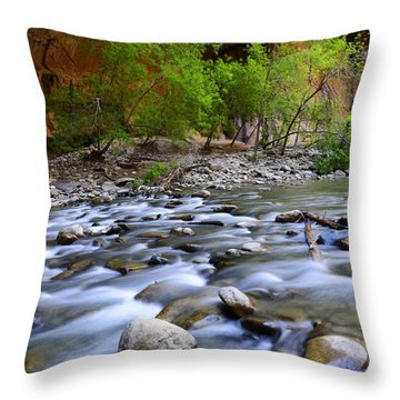 The Narrows A Place To Pause Throw Pillow by Bob Christopher