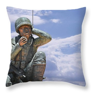 The Navajo Code Talkers Throw Pillow by Christine Till